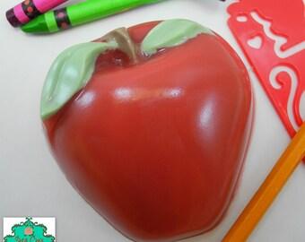Apple Soap Bar - Back to School, Teacher Gift, Fall Soap, Fruit Soap, Teacher Soap