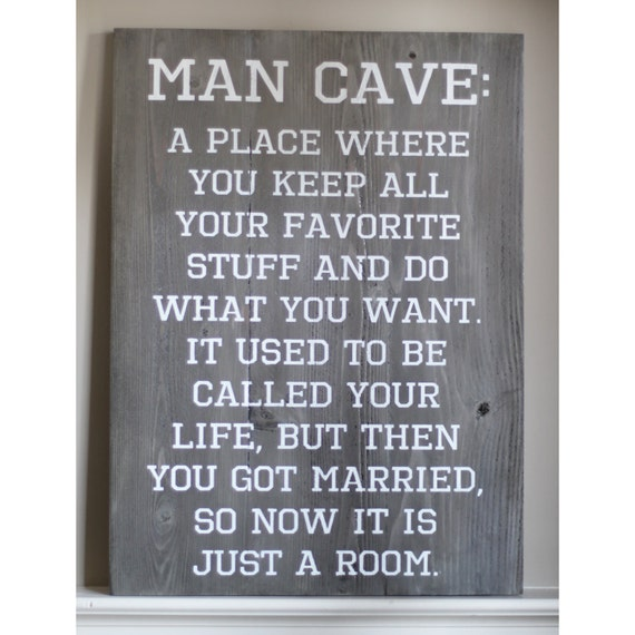 Rustic Man Cave Sign : Rustic man cave wood sign by hammerandlaceinc on etsy