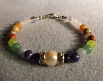 Energetic healing chakra bracelets with gems