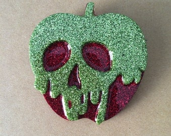Large poison apple brooch, poison apple pin