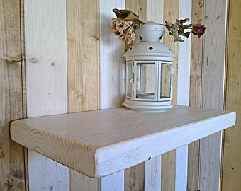 Floating Shelves, Wooden Shelves, Wall Shelf - Distressed - White Mist - 1ft - 6ft ** FREE UK DELIVERY **