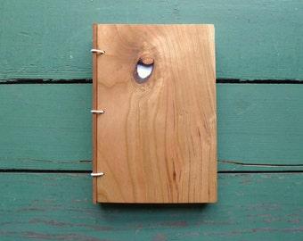 Hard Maple Wood Journal, Sketchbook or Guestbook - Size 4 x 6 - Handmade