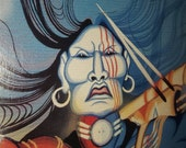 FREE SHIPPING - Little Chief Mystic Warrior Print by Barthell Little Chief - Signed