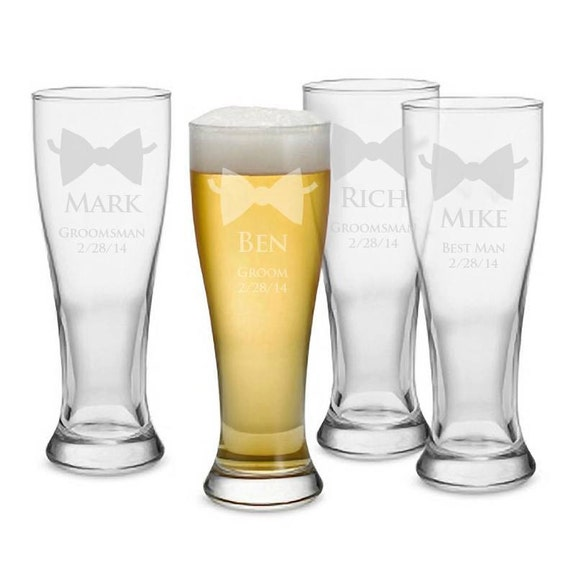 Personalized Wedding Glass, Personalized Beer Pilsner, Engraved Beer ...