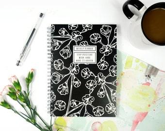 Weekly Planner - A5 - Weekly Schedule - Undated - Flower Design
