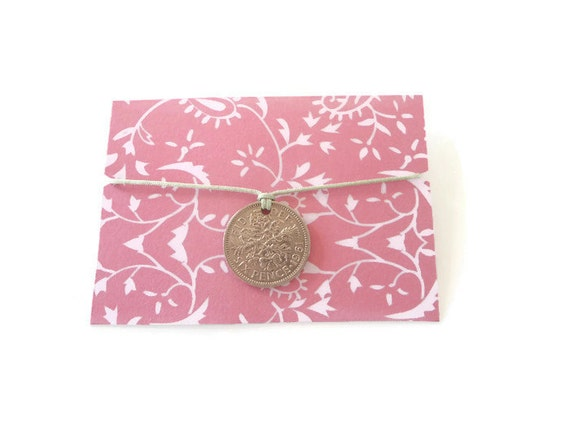 Wedding Wish Bracelet Lucky Sixpence Bride Gift From Friend