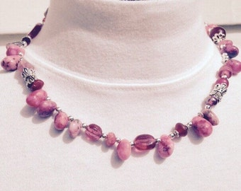 Pink Bobble Beaded Necklace
