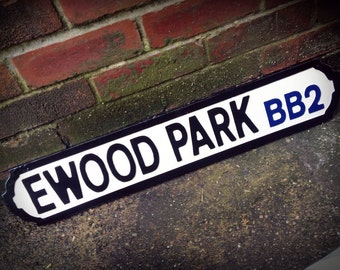 Blackburn Ewood Park Football Ground Street Sign
