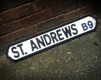 St Andrews Birmingham City Vintage Street Sign Football Ground Road Sign