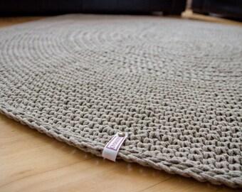 Wonderful Organic Rug Linen Cord Crochet Rug Raw Linen Carpet Floor Mat Doily Rug U2026