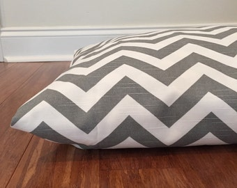 Chevron Dog bed cover, Gray Dog bed cover, Gray chevron dog bed cover, Zig Zag Dog bed cover