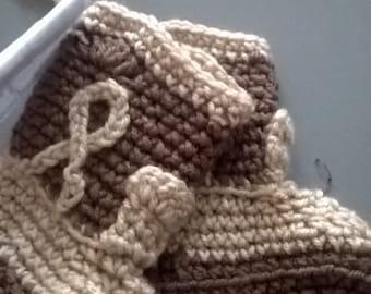 crochet cowboy boots 3-12 months