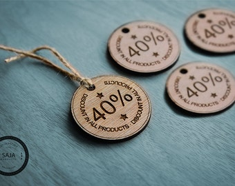 Set of 10 Wood tag /customwoodtag /logotag /Lable /Partytag /thankyouwoodtag /Clothingtag /jewelrytag  /Engravewoodtag