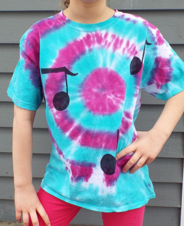 Music note tie dye tshirt custom tie dye shirt music shirt for Custom t shirts tie dye