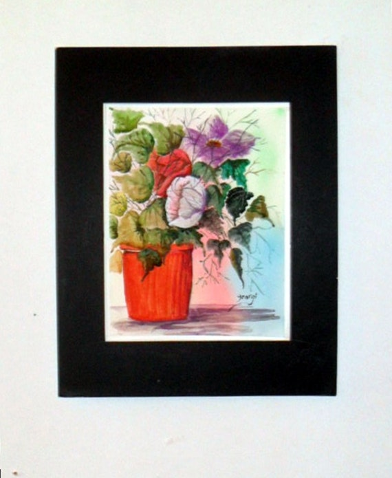 Cabbage Rose Flower Print Purple Abstract Art Kitchen Wall: Mother's Day Gifts Potted Flower Flower Bouquet Picture