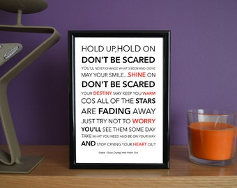 Framed - Oasis - Stop Crying Your Heart Out - Poster Art Print - 5x7 inches