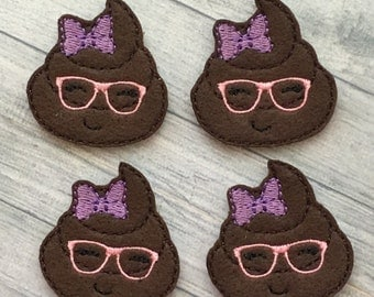 4 nerdy girl poop felties