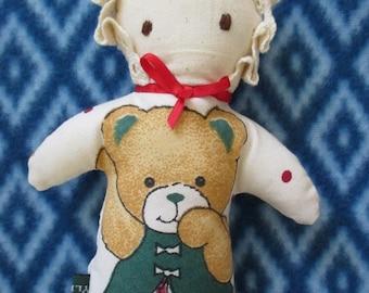Ragdoll, doll for baby, softdoll, handmade  - environmentally friendly