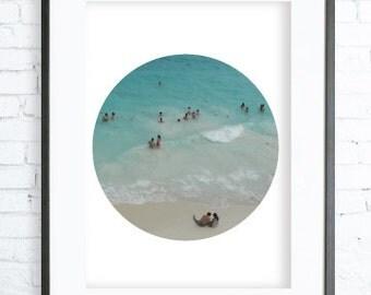 Ocean Print Art, instant Download Printable, Digital print, Print, Circle Photography, mar