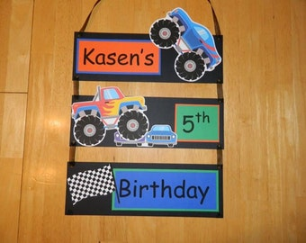 20% OFF with FALLPARTY coupon code - Monster Truck Hanging Banner