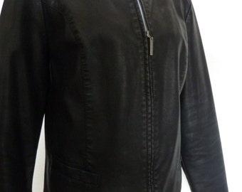 Leather Jacket,black Womens Jacket 42 44 M L