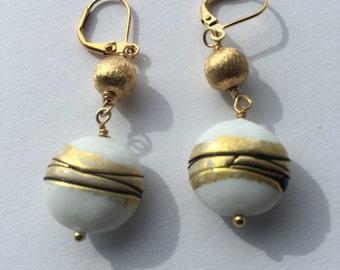 White-Gold Vermil Earrings!
