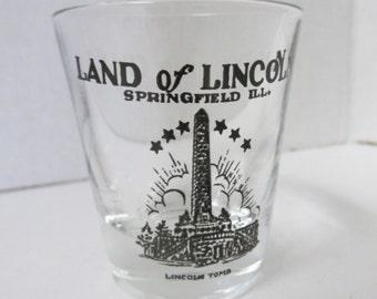 Vintage Land of Lincoln Shot Glass