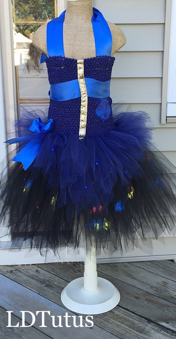 Disney Descendants Evie Inspired Tutu Costume Dress With LED lights