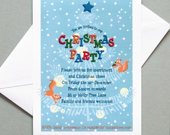 Christmas Party Invitations (set of 10)