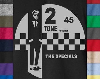 2 TONE RECORDS The Specials 100% Ringspun Cotton T-Shirt Jerry Dammer Reggae Ska
