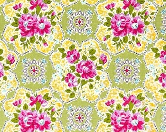 Circa Austin Green Jennifer Paganelli Sis Boom Free Spirit -PWJP073.Green Fabric Remnant