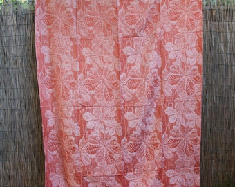 Damask Linen Curtain Etsy - retro home decor fabric by the yard