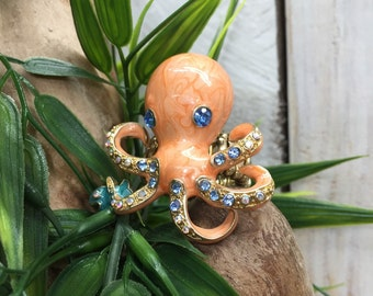 Octopus Ring, Tentacle Ring, Squid Ring, Fish Ring, Ocean Ring, Sea Creature Ring, Octopus Jewelry, Octopus Rings, Adjustable Ring