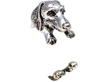 Dachshund Ring - Silver Toned - Adjustable