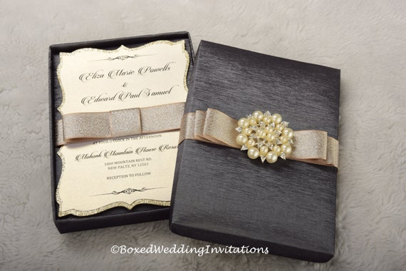 Gifts Using Wedding Invitation: Wedding Invitation Box / Invitation Box / Couture Invitation