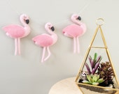 Pink Flamingo Felt Garland, Baby Nursery Decor, Flamingo Party, Bunting, Banner, Baby Shower Gift, Birthday Decoration, First Birthday,