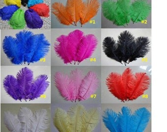 50pcs ostrich feather for wedding decorations AA quality