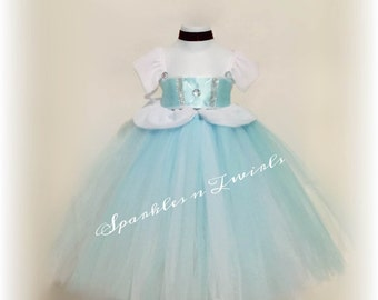 Cinderella inspired full tutu dress