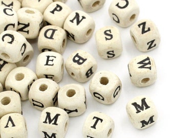 Alphabet beads wooden 50 piece (A 945)