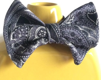 Troy- Reclaimed 100% silk Bow Tie for ages 1-Adult.