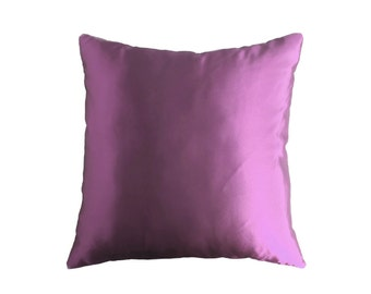 Satin Throw Pillow, purple Accent Pillow, Decorative Pillows, Decorative Pillows For Couch, Decorative Pillow Covers, Living Room Pillow