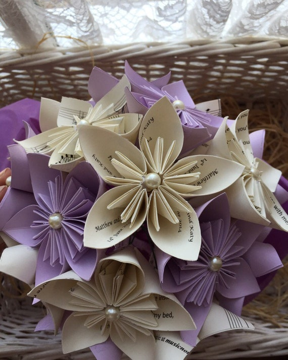 First Wedding Anniversary Paper Flower Gift Bouquet