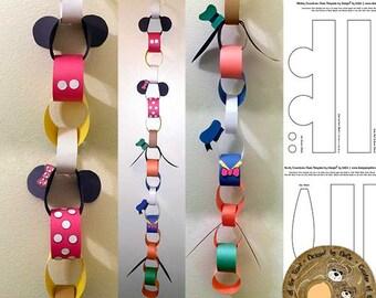 Disney Fab 5 Countdown Chain Templates