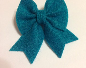 Teal Marley Style Bow