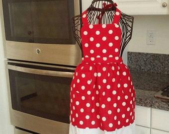 Girls Minnie theme apron