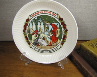 Wedgwood - Childrens Stories Plate - King Roughbeard - 1984 - Fourteenth in Series