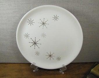 Vintage Starburst Dinner Plate - Gold Starburst