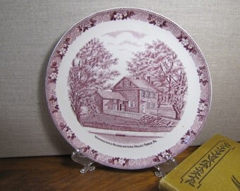 Vintage Decorative Plate - Mulberry Transferware - Washington' s Headquarters - Valley Forge PA