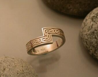 White Gold Celtic Knot Ring