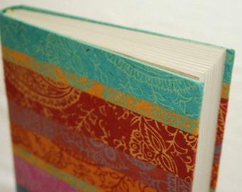 Multicoloured Paisley hardback notebook